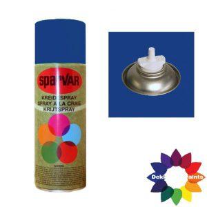 Krijt Spray Bodem Ventiel 400ml Blauw 6001111