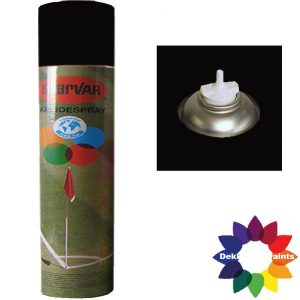 Krijt Spray Bodem Ventiel 750ml Zwart 6031378