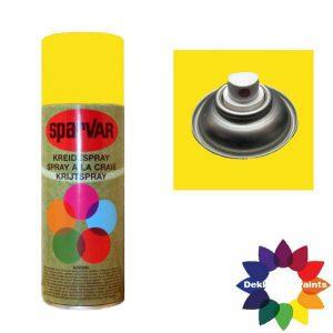 Krijt Spray Standaard Ventiel Fluor Geel 400ml 6000633