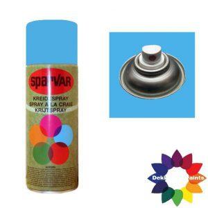 Krijt Spray Standaard Ventiel Fluor Blauw 400ml 6000657