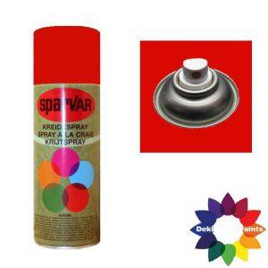 Krijt Spray Standaard Ventiel Fluor Rood 400ml 6000640