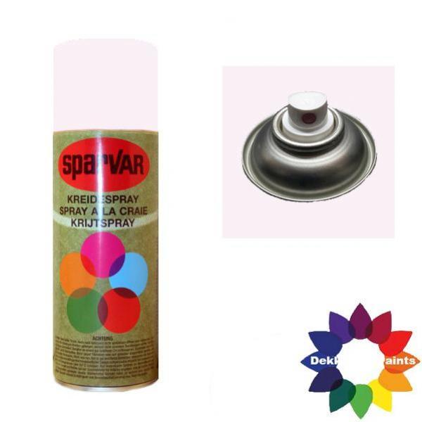 Krijt Spray Standaard Ventiel Wit 400ml 6000756