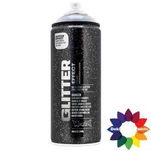 Montana Glitter Effect Spray EGCSilver Silver Transparant 400 ml 415425