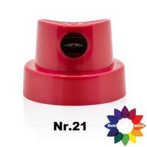 nr.21 422799 Flatjet Wide Cap Red/Black (12 st.)