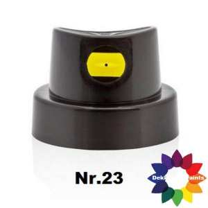 nr.23 422775 Flatjet Medium Cap Black/Yellow (12 st.)