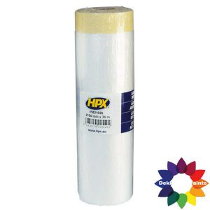 HPX Afdekfolie met masking tape 2700mm X 16m PM270016