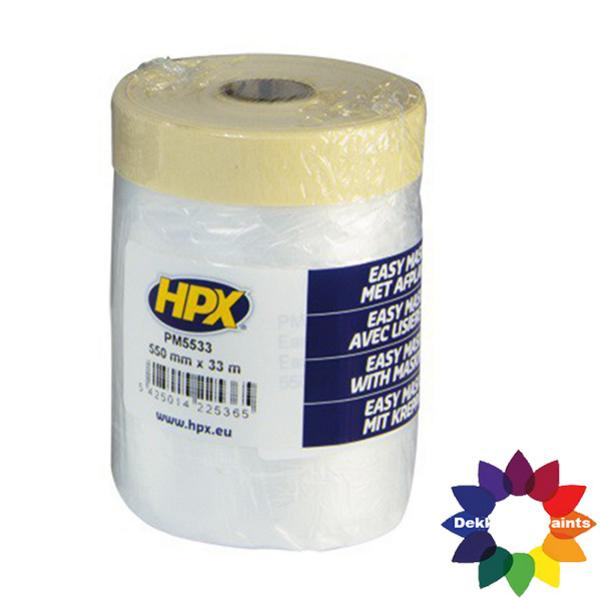 HPX Afdekfolie met masking tape 550mm X 33m PM5533