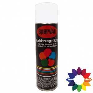 1018-9016UK Sparvar MS Markeer spray RAL 9016 Verkeerswit Bodemventiel 500 ml
