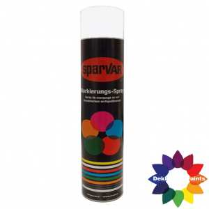 1030-9016UK Sparvar MS Markeer spray RAL 9016 Verkeerswit Bodemventiel 750 ml